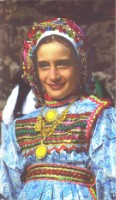 Karpathos - Girl traditional dressed. (Big size photograph)