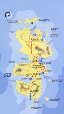 Map of Leros.